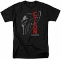 Battlestar Galactica t-shirt Cylon Face mens Black