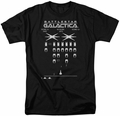 Battlestar Galactica t-shirt Galactic Invaders mens Black