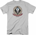 Battlestar Galactica t-shirt Headhunters Badge mens Silver