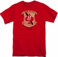 Battlestar Galactica t-shirt Red Aces Badge mens Red