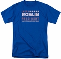 Battlestar Galactica t-shirt Roslin For President mens Royal Blue
