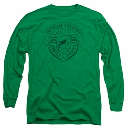 Beetle Bailey adult long-sleeved shirt Official Badge kelly green