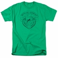 Beetle Bailey t-shirt Official Badge mens kelly green