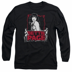Bettie Page adult long-sleeved shirt Bettie Scary Hot black