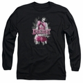 Bettie Page adult long-sleeved shirt Knockout black