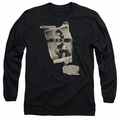Bettie Page adult long-sleeved shirt Newspaper & Lace black