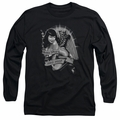 Bettie Page adult long-sleeved shirt Remember black