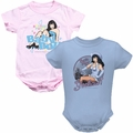 Bettie Page baby snapsuits