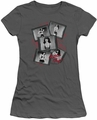 Bettie Page juniors t-shirt Exposure charcoal