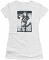 Bettie Page juniors t-shirt Fancy Page white
