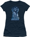 Bettie Page juniors t-shirt I See You navy