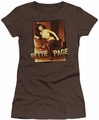 Bettie Page juniors t-shirt Over Exposed coffee