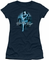 Bettie Page juniors t-shirt Patient Pin Up navy
