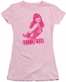 Bettie Page juniors t-shirt You'll Put Eyes Out pink