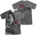 Bettie Page mens full sublimation t-shirt Meow