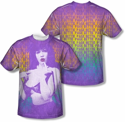 Bettie Page mens full sublimation t-shirt Oops Again