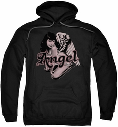 Bettie Page pull-over hoodie Bettie Angel adult black