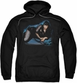 Bettie Page pull-over hoodie Blue Moon adult black