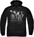 Bettie Page pull-over hoodie Center Of Attention adult black