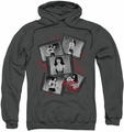 Bettie Page pull-over hoodie Exposure adult charcoal