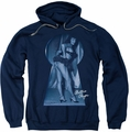 Bettie Page pull-over hoodie I See You adult navy