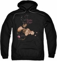 Bettie Page pull-over hoodie Kitty Pin Up adult black