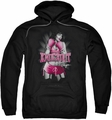 Bettie Page pull-over hoodie Knockout adult black