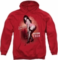 Bettie Page pull-over hoodie Let's Have Some Fun adult red