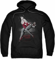 Bettie Page pull-over hoodie Monkey Business adult black