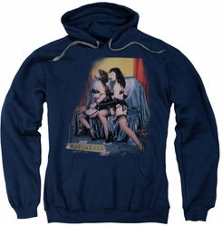 Bettie Page pull-over hoodie Notorious Color adult navy