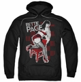 Bettie Page pull-over hoodie Over A Chair adult black