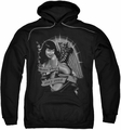 Bettie Page pull-over hoodie Remember adult black