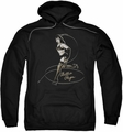 Bettie Page pull-over hoodie Whip It! adult black