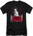 Bettie Page slim-fit t-shirt Bettie Scary Hot mens black