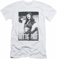 Bettie Page slim-fit t-shirt Fancy Page mens white