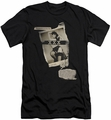 Bettie Page slim-fit t-shirt Newspaper & Lace mens black