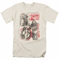 Bettie Page t-shirt Beauty & The Beast mens cream