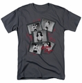 Bettie Page t-shirt Exposure mens charcoal