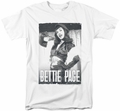 Bettie Page t-shirt Fancy Page mens white