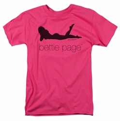 Bettie Page t-shirt Fashion Logo mens hot pink