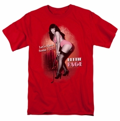 Bettie Page t-shirt Let'S Have Some Fun mens red