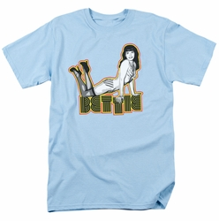 Bettie Page t-shirt Lounging mens light blue