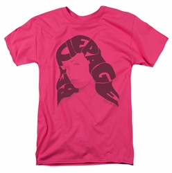 Bettie Page t-shirt Name Hair mens hot pink