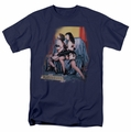 Bettie Page t-shirt Notorious Color mens navy