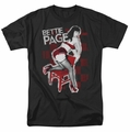 Bettie Page t-shirt Over A Chair mens black