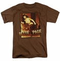 Bettie Page t-shirt Over Exposed mens coffee