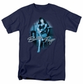 Bettie Page t-shirt Patient Pin Up mens navy