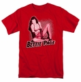 Bettie Page t-shirt Pin Up Queen mens red