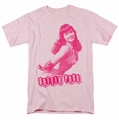 Bettie Page t-shirt You'Ll Put Eyes Out mens pink