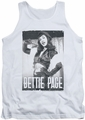 Bettie Page tank top Fancy Page mens white